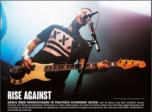 Rise Against, Fuze Magazin 64 JUN/JUL 17, http://fuze-magazine.de