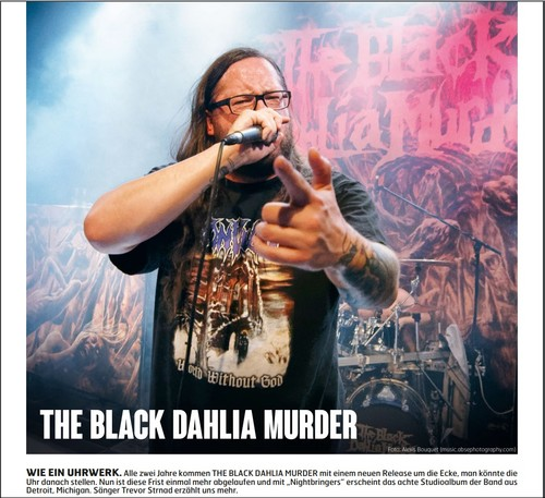 The Black Dahlia Murder, Fuze Magazin 66 OCT/NOV 17, http://fuze-magazine.de