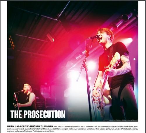 The Prosecution, Fuze Magazin 65 AUG/SEP 17, http://fuze-magazine.de